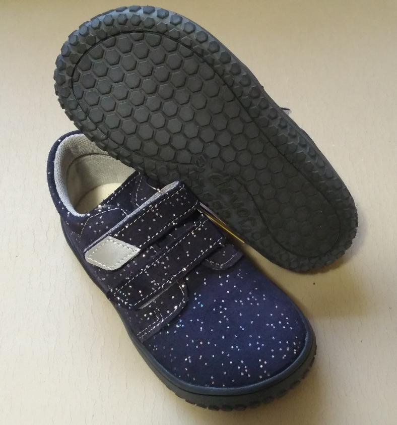 889a9bf0590 Celoroční barefoot obuv   Jonap barefoot B1V - modrá třpytky vel. 23-30