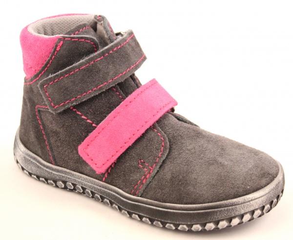 Celoroční barefoot obuv   Jonap barefoot B2 - šedá růžová vel. 22-30 d7f331a14a