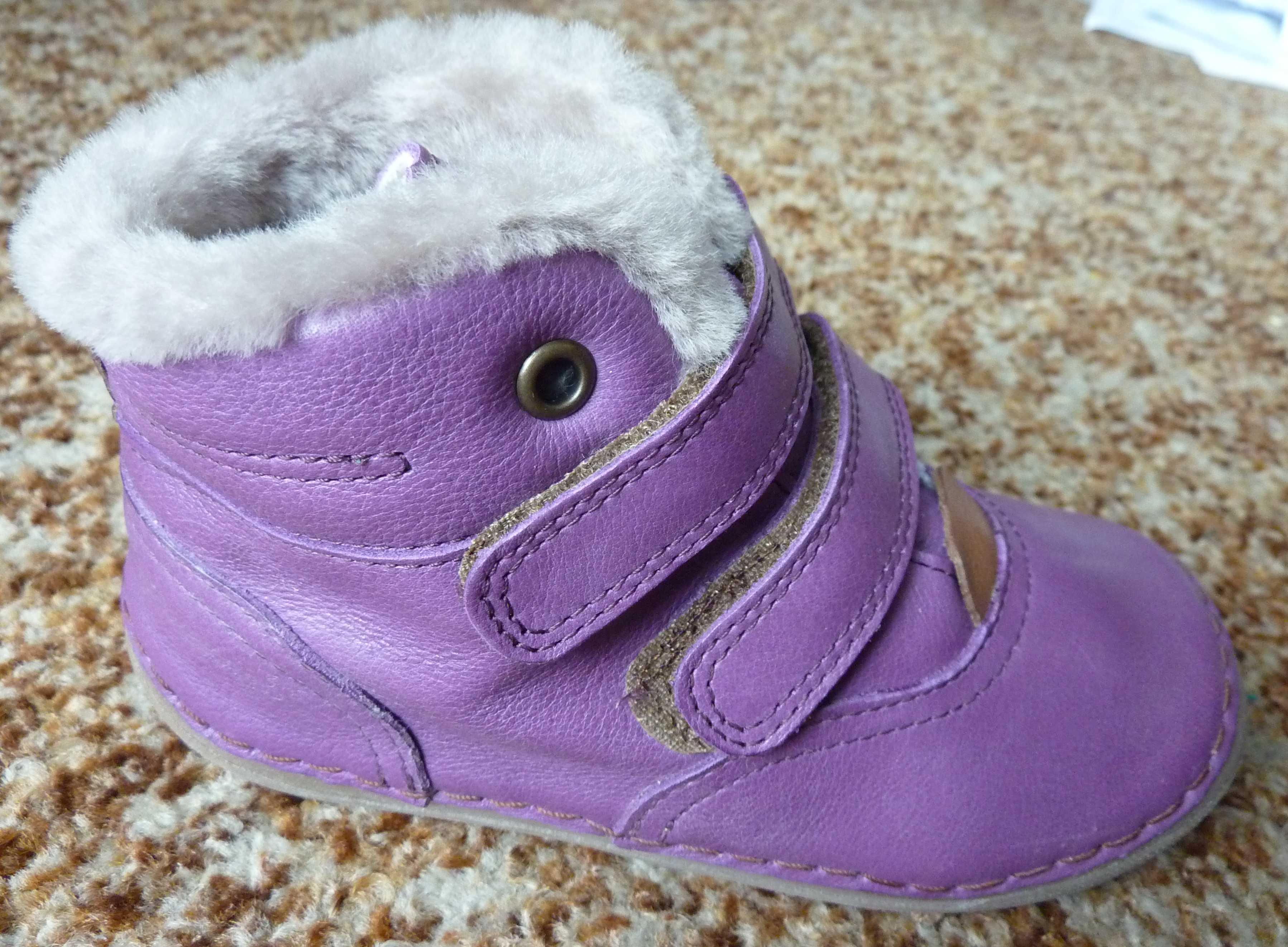 8093af4073 Zimní barefoot obuv   Froddo zimní boty fialové G2110058-6K vel.30