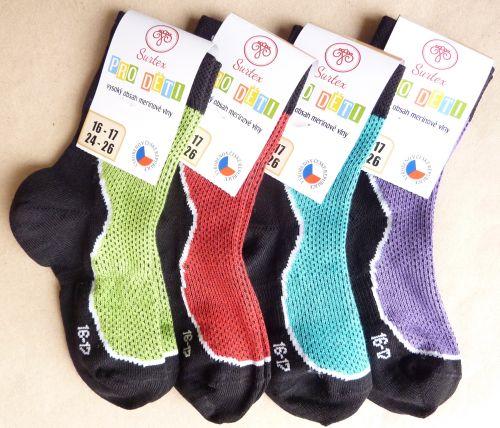 Ponožky a punčocháče   letní ponožky Surtex 50% merino barevné dětské 5276eab322